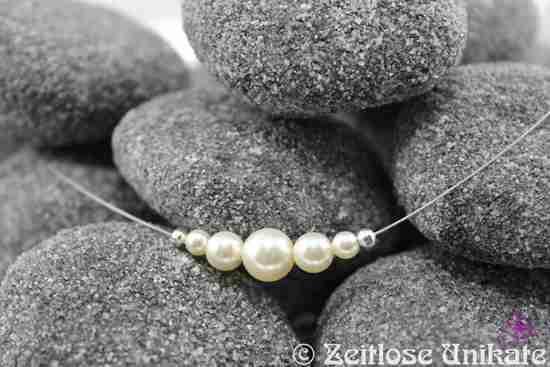 Brautschmuck kette dezent  Brautschmuck - sehr schlichte Brautkette - ein Hauch von Nichts ...