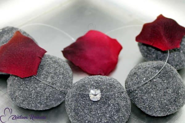 Kette schwebender Kristallstein (3 Größen), zauberhaftes Funkeln nicht nur für die Braut