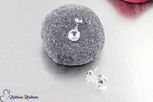 Brautschmuck - Ohrringe mit schwebenden Kristallstein (3 Größen), zauberhaftes Funkeln