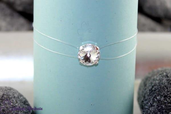 Brautschmuck - Armband mit schwebenden Kristallstein (3 Größen), zauberhaftes Funkeln