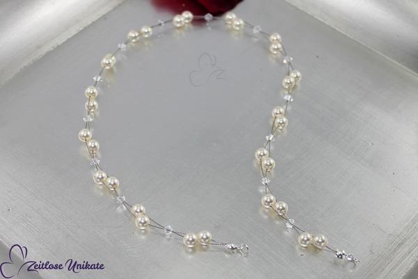 Haarband - Luftig, schönes dezentes Perlenhaarband was sich sehr schön kombinieren lässt