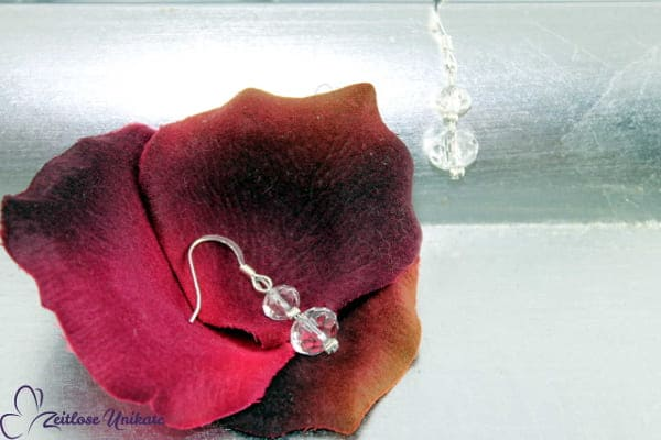 Brautschmuck - Shining mini, wunderschöne zarte Ohrringe mit kristallklaren Perlen
