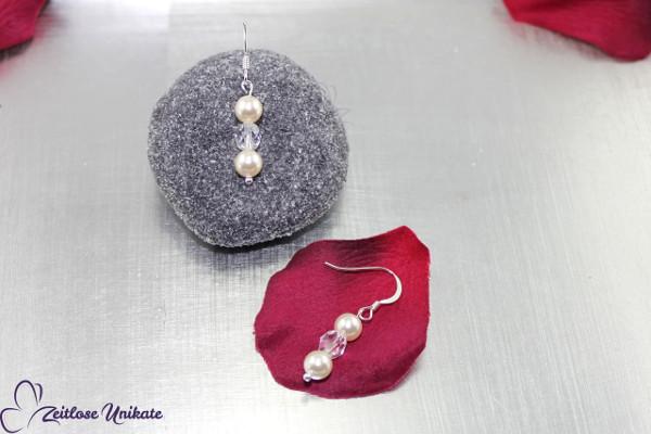 Brautschmuck - Die Schlichte, dezente Ohrringe für eine natürliche Braut ~ zeitlos schön