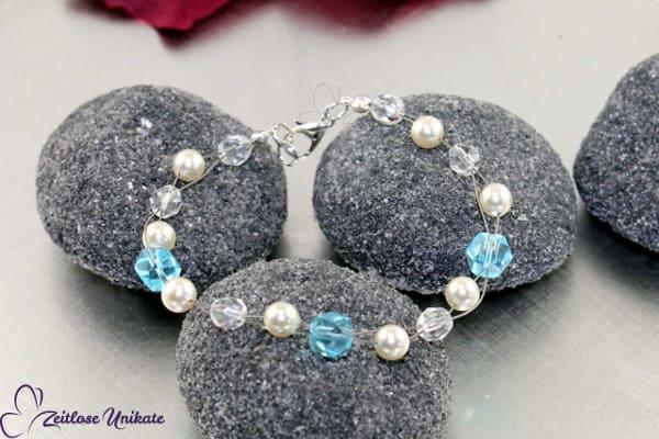 Brautschmuck - Etwas Blaues, Armband mit klassischem Hochzeitsbrauch + ausgefallen