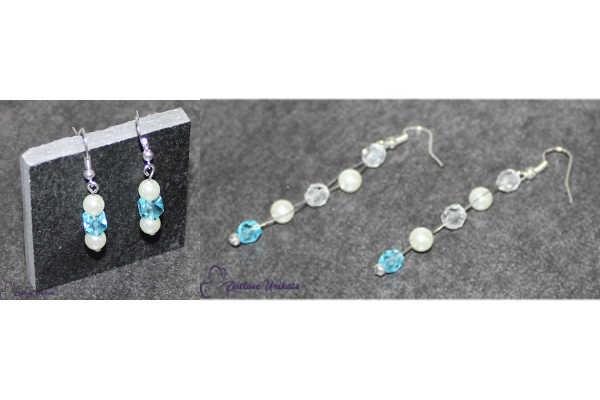 Brautschmuck - Etwas Blaues, Ohrringe mit klassischem Hochzeitsbrauch + ausgefallen