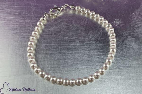 Zierlich, zartes Perlenarmband - klassische Variante - kleine zarte Perlen