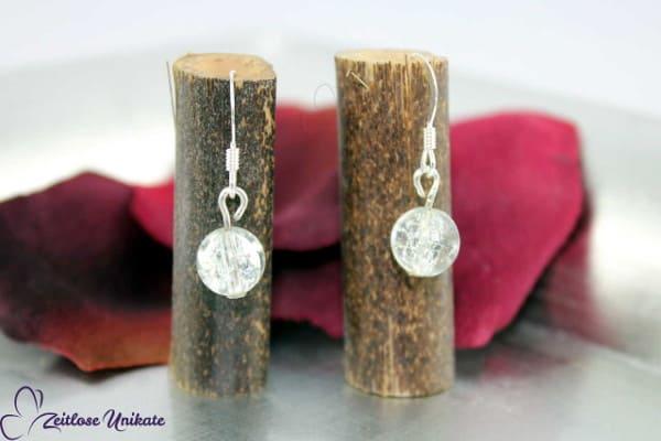 Brautschmuck - Ich trage sonst keinen Schmuck, Ohrringe mit bescheiden glänzenden Perlen