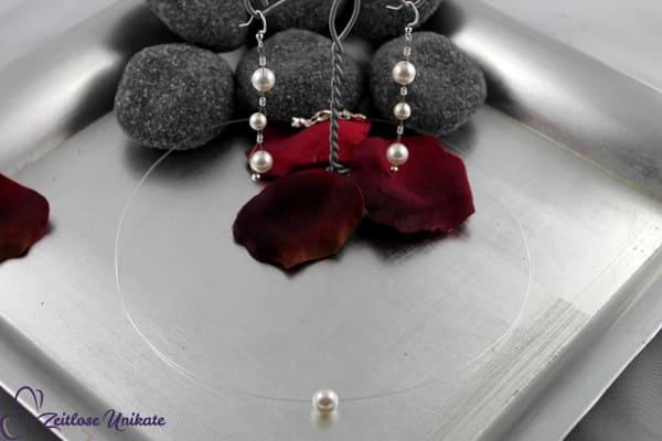 Brautschmuck - aus der Reihe tanzen, interessante & ausgefallene Ohrringe + minimalistische Kette