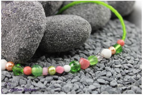 ZUdurcheinander? Grünrosapink! Kette in grün, rosa / pink - auffällig durch Komplementärfarbspiel
