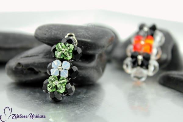 Anhänger verziert mit Swarovski® Xilion Beads, Farbbeispiel auch in Ihrer Wunschfarbe