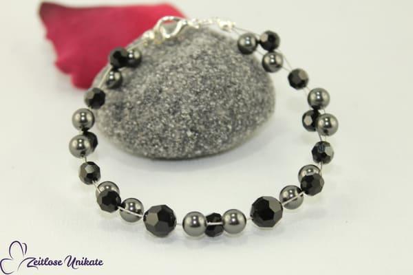Schwarzgraues Armband 2 - Carina