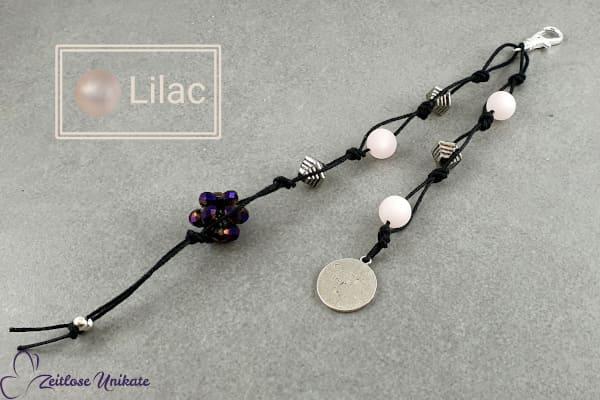 Taschenbaumler lilac -  Guardian Angel for love - Schlüsselanhänger - Würfel lila metallic
