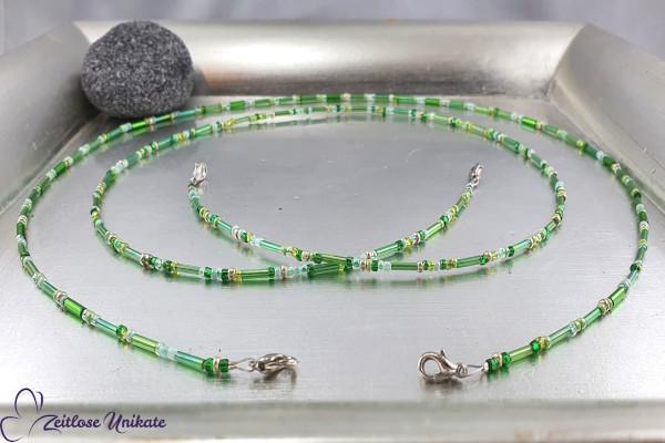 Einfache Mundschutzkette, grün Töne - Maskenkette auch als Brillenkette möglich