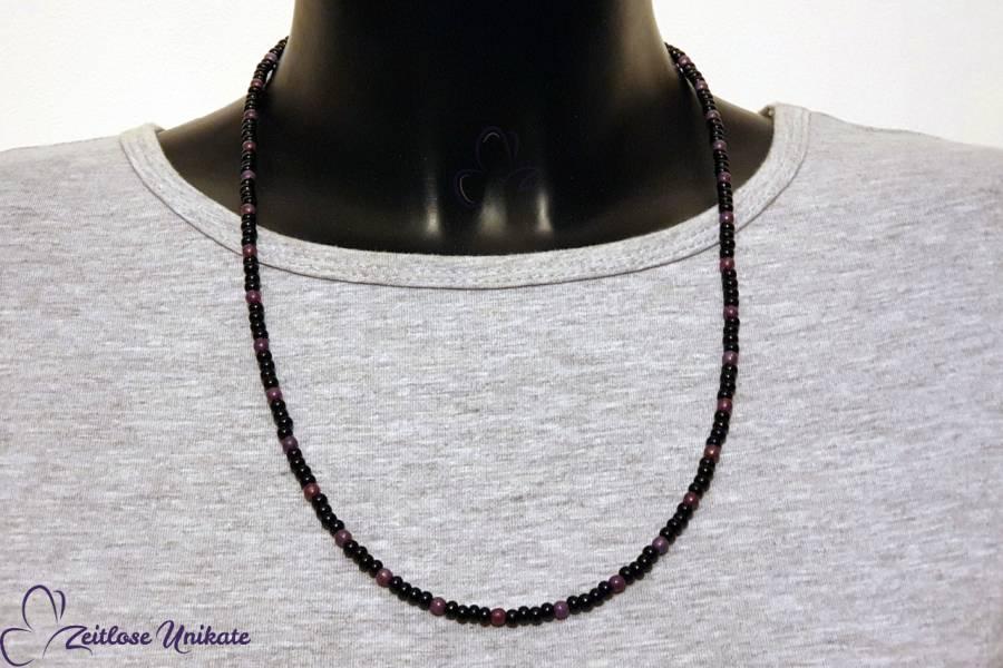 Brillenkette geht auch als normale Kette, violett schwarz