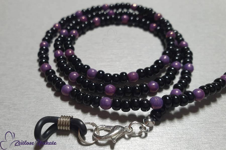 Multifunktionale Kette möglich schwarz violett