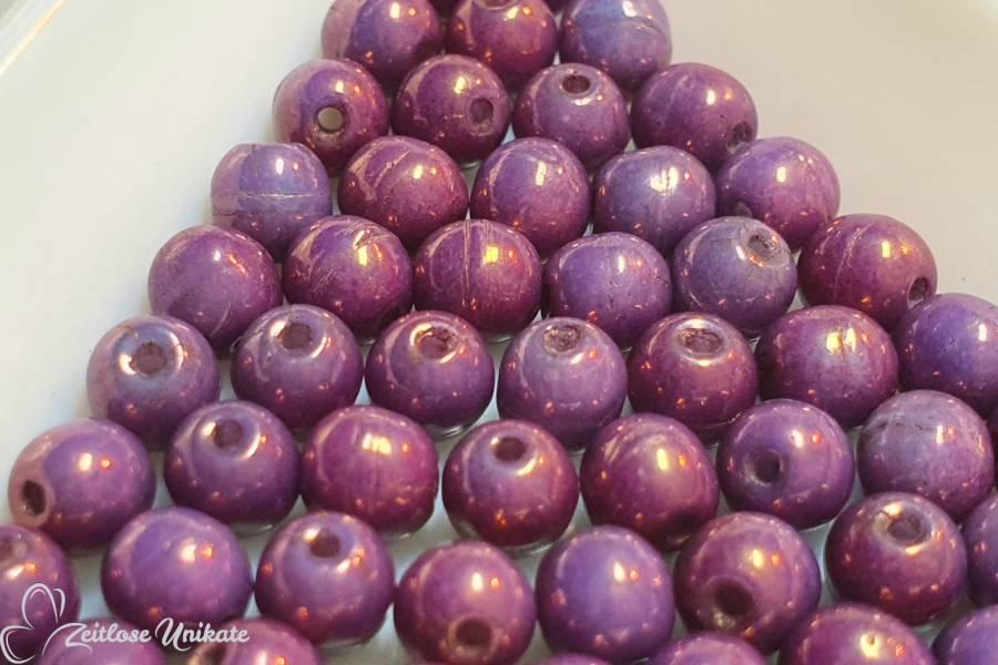 violette Perlen Brillenkette Maskenkette Halskette