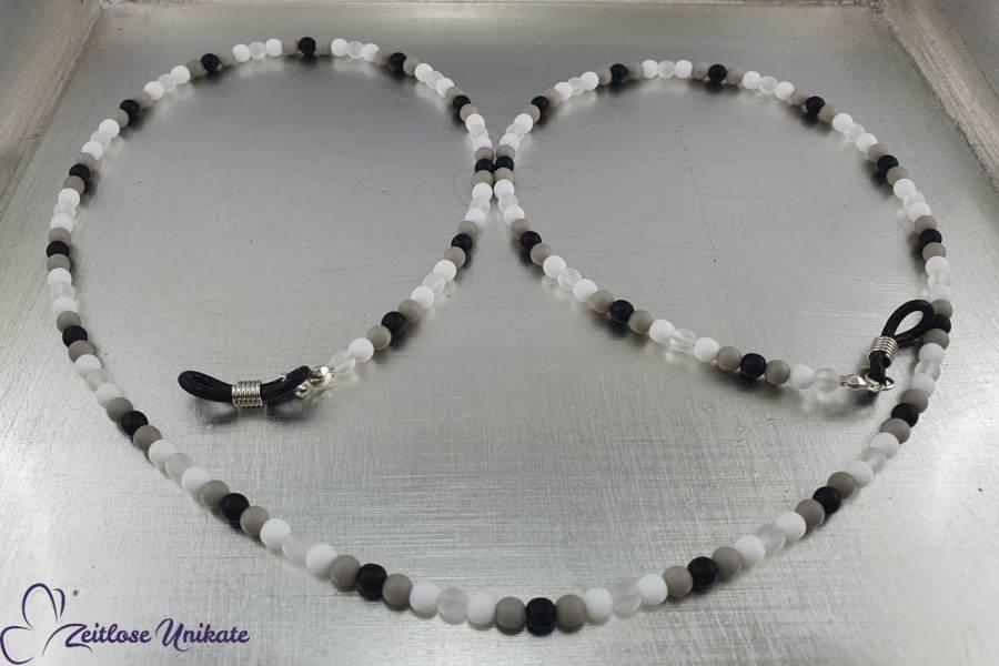 sportlich schicke Brillenkette farbneutral schwarz weiß