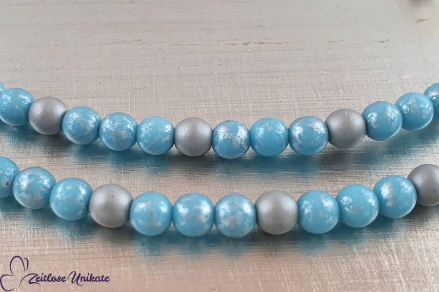 grau hellblau silber Brillenkette sommerlich