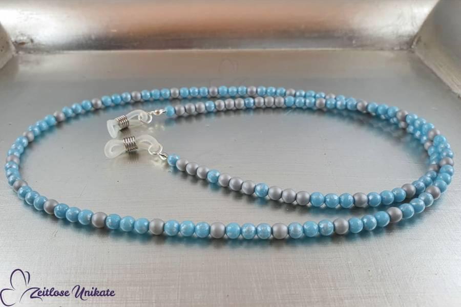 hellgrau hellblau - zauberhafte Perlen Brillenkette