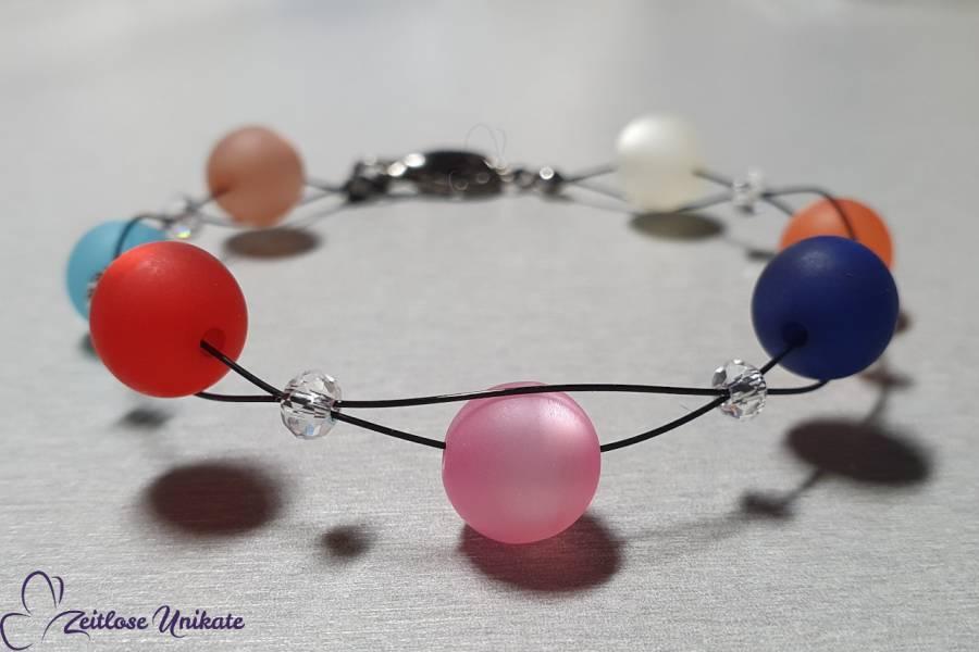 Armband passend zur langen bunten Kette, Brillenkette