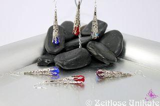 Rot, Lila, blau ... lange Ohrringe auch in Ihrer Wunschfarbe möglich